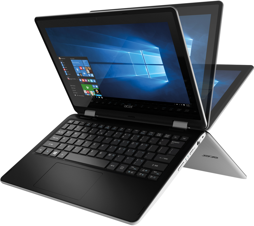 "Acer R3-131T-C25D NX.G0ZSV.001 Intel Celeron N3060(1.60GHz up to 2.48GHz) - RAM 2GB - HDD 500GB - No DVD-RW - 11.6"" Touch, xoay 3600- Win10"