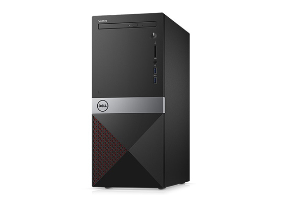 Máy tính để bàn Dell Vostro 3670MT 42VT37D018 Intel Core i7-8700 ( 3.20 Ghz upto 4.60GHz, 12MB)/ Ram 8GB DDR4 2666Mhz/ HDD 1TB 7200rpm/ NVIDIA GeForce GTX 1050 with 2GB GDDR5 Graphics / DVDRW/ Key + Mouse/ Ubuntu