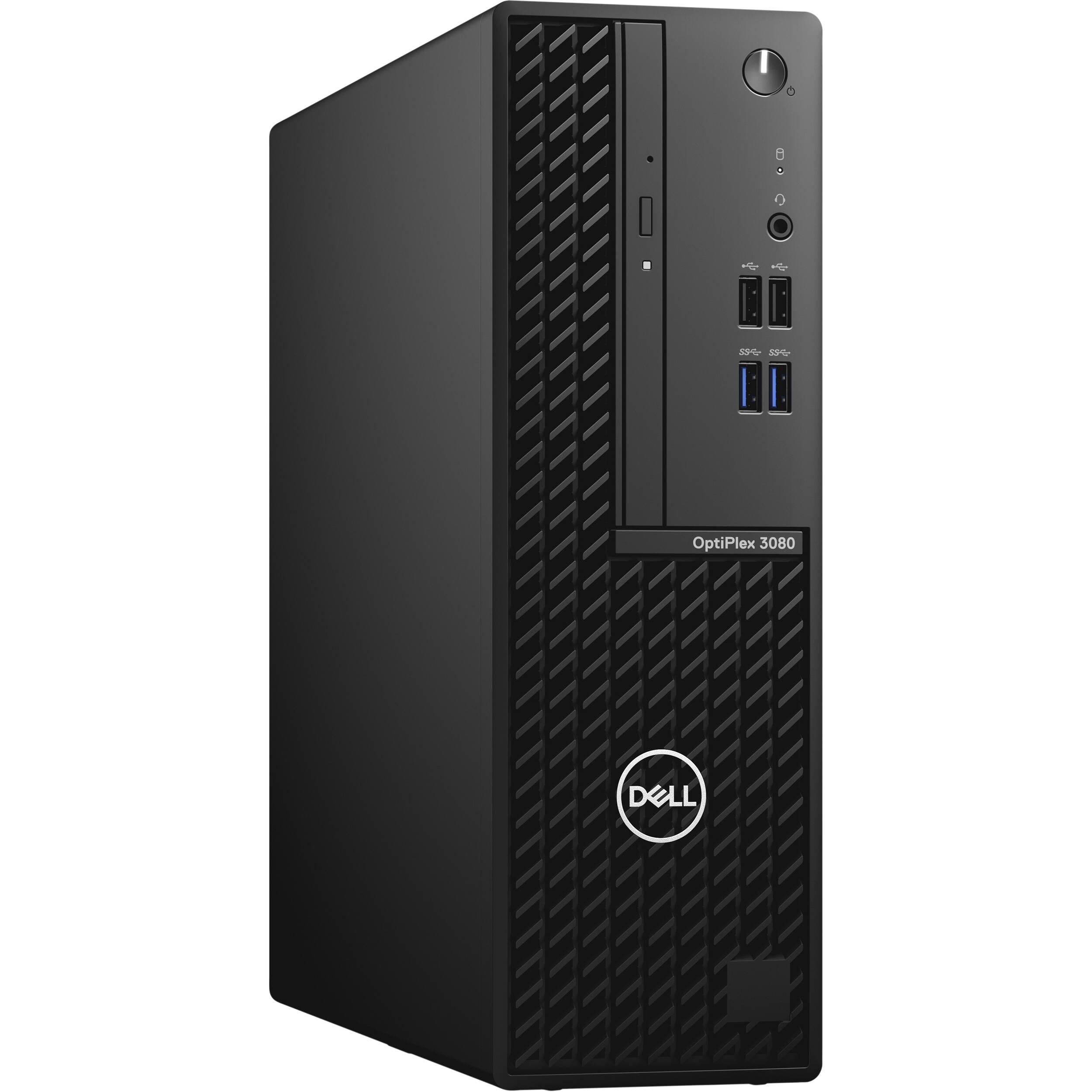 Máy tính để bàn Dell OptiPlex 3080 SFF,Intel Core i3-10100,4GB RAM,256GB SSD,DVDRW,VGA Port,Mouse,Keyboard,Fedora,1Yr