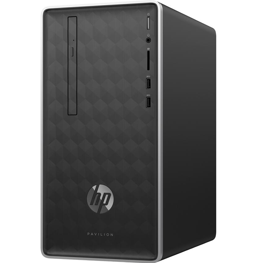 Máy tính để bàn HP Pavilion 590-p0108d, Core i3- 9100(3.60 GHz,6MB),4GB RAM DDR4,1TB HDD,DVDRW,Intel UHD Graphics,Wlan ac +BT,USB Keyboard & Mouse,Win 10 Home 64,1Y WTY_6DV41AA