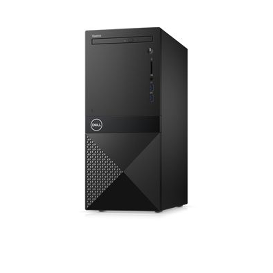 PC Dell Vostro 3671  42VT370046 Intel Core i3-9100, B365 chipset, Ram : 4GB , 1TB 7200 RPM SATA 6Gb/s (64MB Cache) + 256GB M.2 PCIe NVMe Solid State Drive, NO DVD, Optical Mouse & Keyboard, Windows 10 Home Single Language English