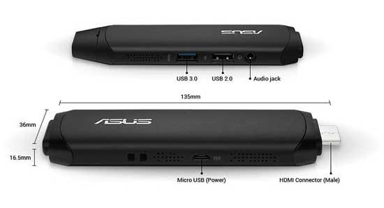 ASUS Vivostick PC TS10-B048D 90MA0021-M00480