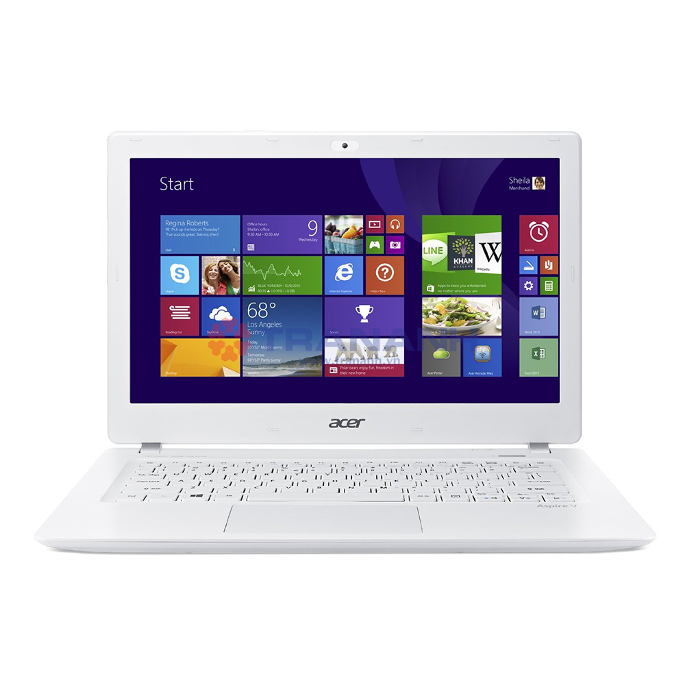 Notebook Acer V3-371-38M5 NX.MPFSV.015 Intel Core i3 Broadwell 5005(2.2GHz) - RAM 4G - HD 500GB+8GBSSD -  No DVD-RW - 13.3 inch - Win 10